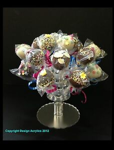 SMALL 20 HOLE CAKE POP STAND, LOLLIPOP STAND, MAYPOLE POP STAND