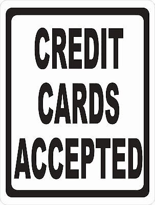 Credit Cards Accepted Sign. Size Options. Forms Acceptable Payment Card Policy
