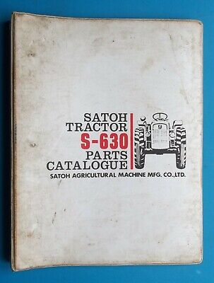 1980 Satoh Tractor S-630 Parts Catalog Agricultural Mitsubishi 212 Pages Vintage