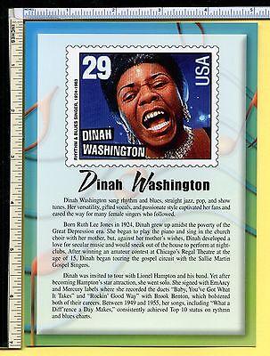 Dinah Washington USPS R&B LEGEND Jumbo 5x7 Postcard; post card; 2000; EX/NM