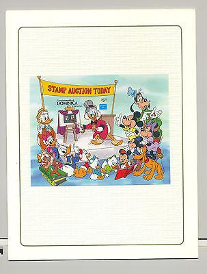 Dominica #958 Disney Ameripex 1v S/S Imperf Chromalin Proof in Folder