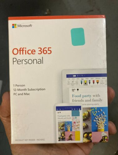 Microsoft Office 365 Personal 1 Year Subscription 1 Person 1 PC MAC Brand New