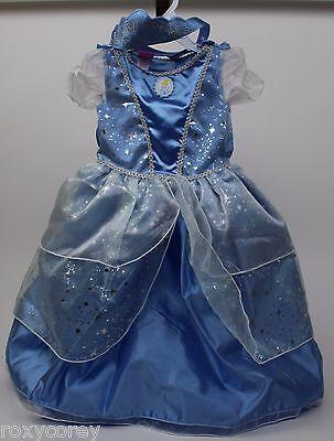 Disney Princess Blue Cinderella Toddler Dress & Crown Size 3T NWT