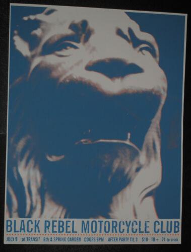 Black Rebel Motorcycle Club BRMC Philadelphia 2003 concert poster rare lion art