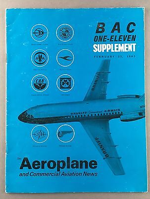 BAC1-11 ONE-ELEVEN MAGAZINE SUPPLEMENT 1965 GREAT PICTURES