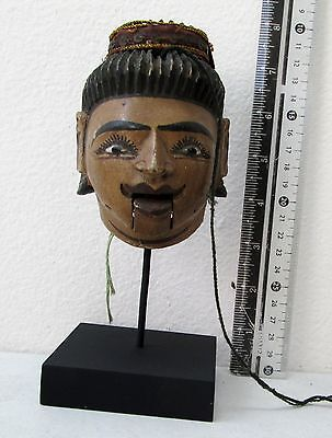 VINTAGE Teak Wood Puppet Head Movable Mouth