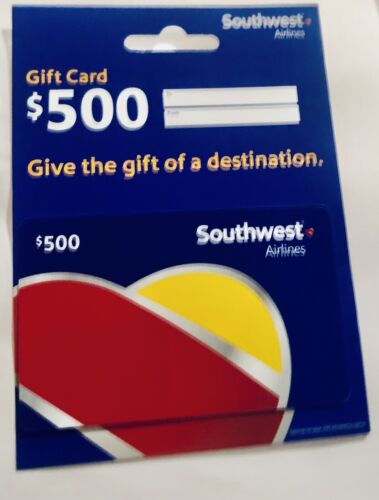 New Gift Card 500 Southwest Airlines No Expiration Date - $480.00
