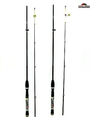 ZEBCO RHINO ROD 6 foot 6 inch medium action two piece spinning rod