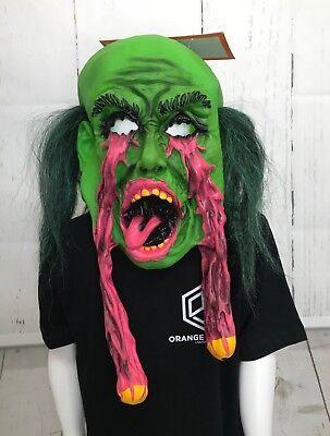 Eye Socket Halloween (Halloween Adult Rubber Latex Fur Overhead Exploding Eye Socket Mask)