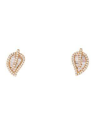 ANITA KO Diamond Leaf Stud Earrings $4000