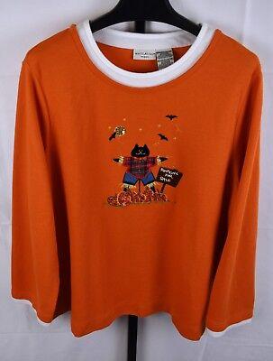 White Stag Orange Ribbed Halloween Top Plus Size 22/24 - Halloween Size 22