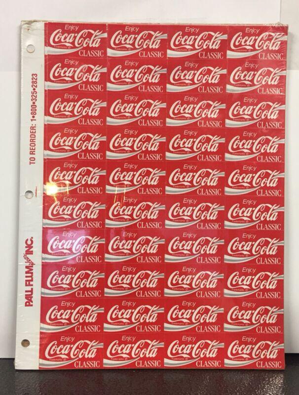 Vintage NOS Coca Cola Vending Machine Soda Shelf Label Decals Coke
