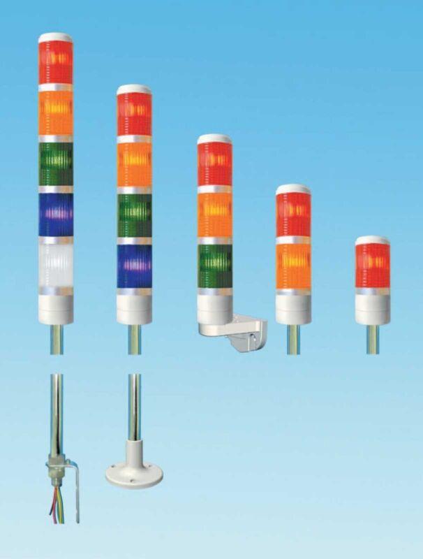 TEND TPTB4-L73ROG Signal Tower Pole Mount Audible alarm Light LED 24VAC/DC