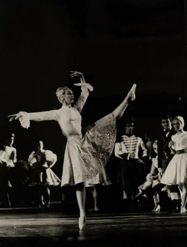 "Claude Bessy ballet ballerina photo France 1966 Paris Opera Ballet ""Coppelia"""