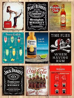 Vintage Style Home Decor (Metal signs plaques vintage retro style Coke bar Peaky Blinders home wall decor)