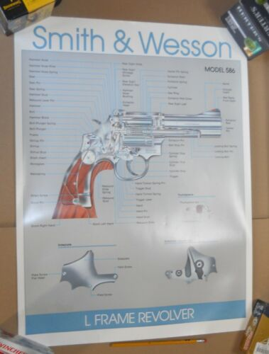 """Vint Smith & Wesson L Frame Revolver Cutaway/Diagram 18""""x24"""" Poster Heavy Paper"""