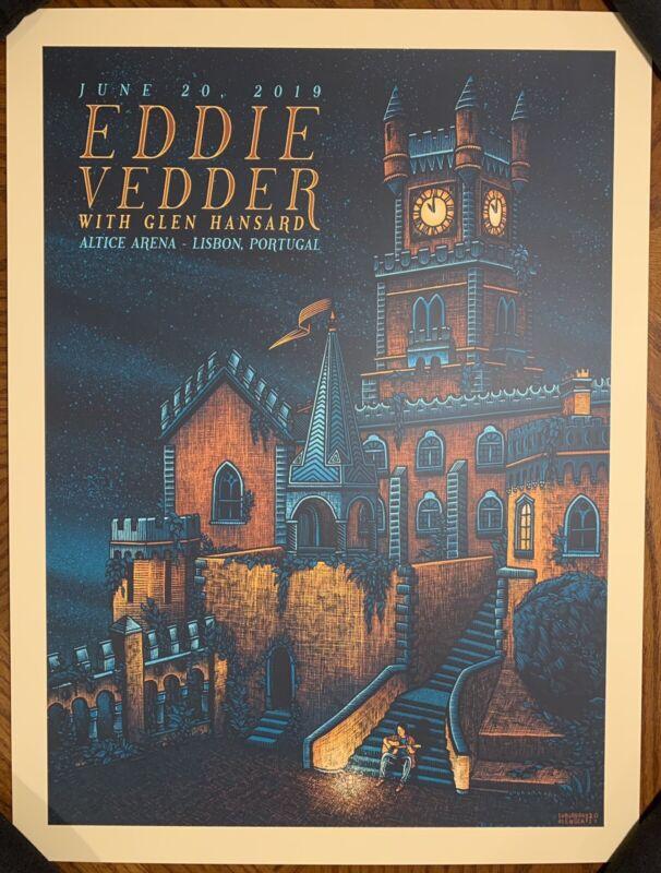Eddie Vedder - Lisbon Portugal - Luke Martin 2019 Concert Poster Show Edition
