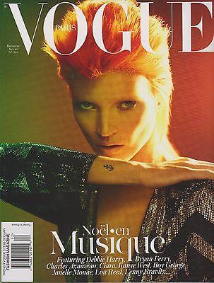 VOGUE PARIS MAGAZINE DEC'11/JAN'12, KATE MOSS, ARIZONA MUSE, SASHA PIVOVAROVA.