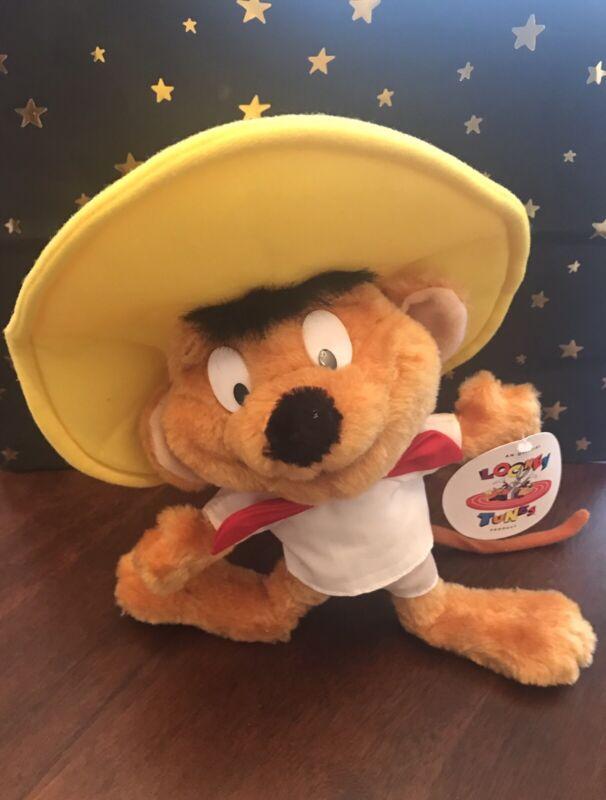 "Looney Tunes Speedy Gonzalez Vintage 1996 - 10"" Stuffed Plush Ace Brand New"