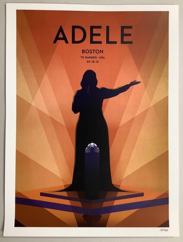 Adele Poster Boston 9/15/2016 LE Official Art Lithograph Concert Tour TD Garden