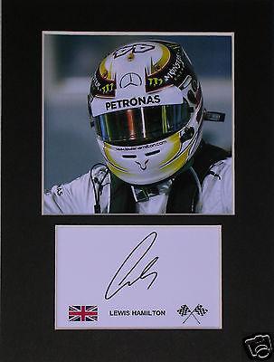 Lewis Hamilton F1 signed mounted autograph 8x6 photo print display   #B