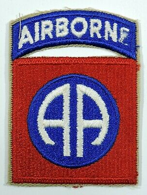 WWII US 82nd Infantry Shoulder Insignia with Airborne Tab,