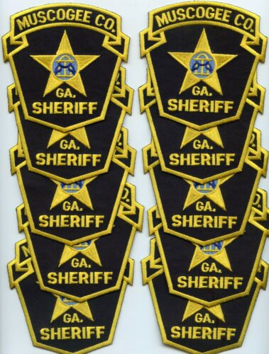 MUSCOGEE COUNTY GEORGIA Trade Stock 10 Police Patches SHERIFF POLICE PATCH