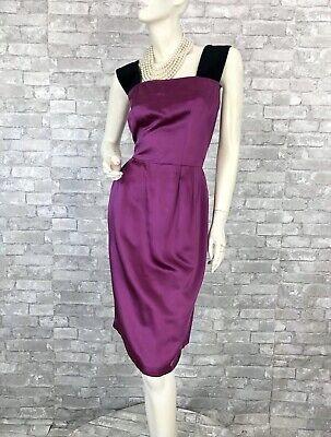 Dolce & Gabbana New Purple Black Cocktail Dress Zip 4 6 US 42 IT S Runway Auth