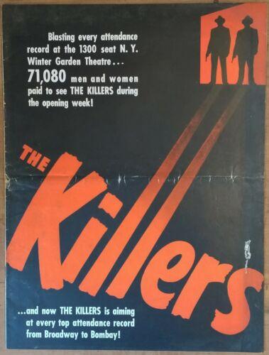 THE KILLERS, Burt Lancaster, Ava Gardner, 1946 Pressbook 492