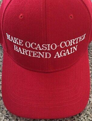 MAKE OCASIO CORTEZ Bartend Again Embroidered Hat Cap FUNNY MAGA Parody 2020 USA