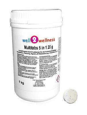 Kleine Chlor Multitabs 5in1 20g / Chlortabletten 20g - 1,0 kg Kleine Tabs