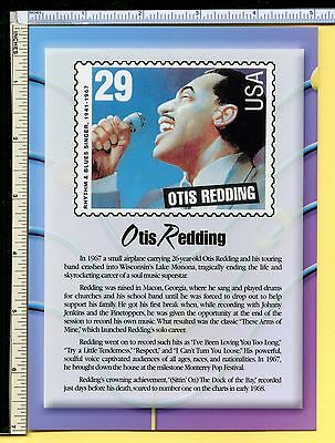 Otis Redding USPS R&B LEGEND Jumbo 5x7 Postcard; post card; 2000; EX/NM