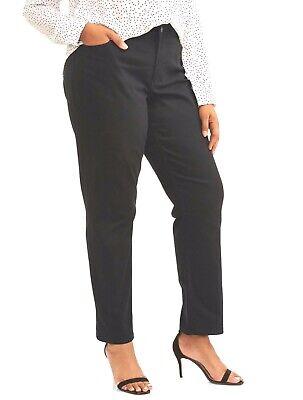 Classic Straight Leg Pockets - Terra & Sky Women's Plus 5 Pocket Classic Straight Leg Stretch Jean, 24W