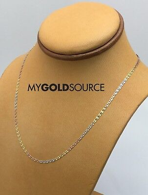14k Gold Necklace Fancy Tri-Color Gold Diamond Cut Star Valentino Chain 2.0mm - Gold Fancy Star