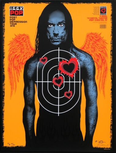 MINT & SIGNED Iggy Pop Port Chester EMEK Artist Edition AP Poster 15/20