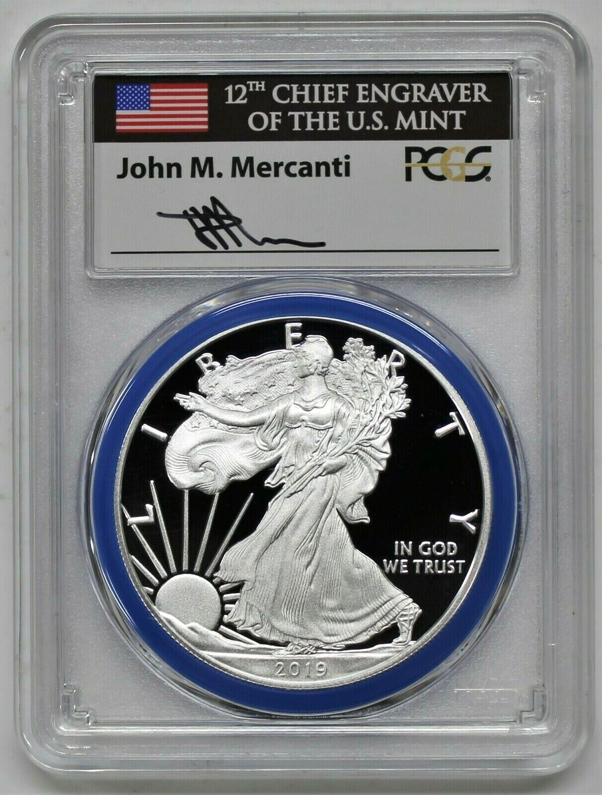 2019-W CONGRATULATIONS SET SILVER EAGLE-PCGS PR70-FIRST DAY OF ISSUE-WEST POINT