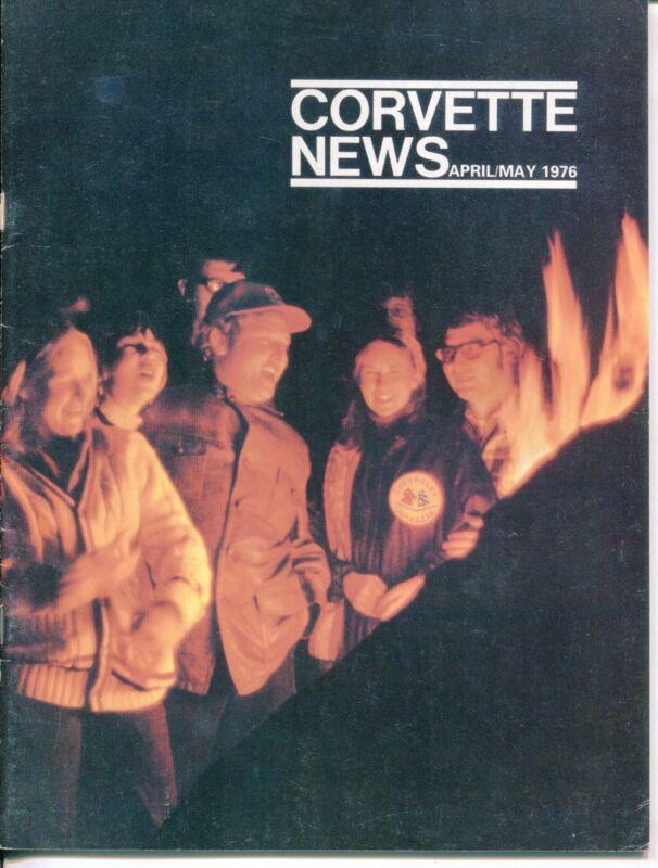 "Vintage ""CORVETTE NEWS"" Magazine - April/May 1976"