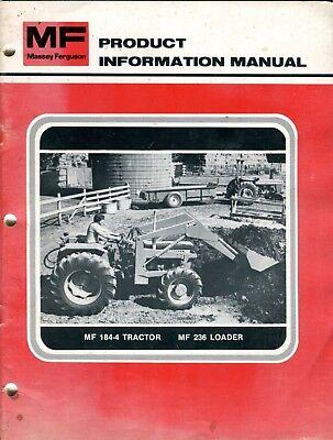 Vintage Massey Ferguson Mf 184-4 Tractor Mf 236 Loader Sales Advertising Catalog