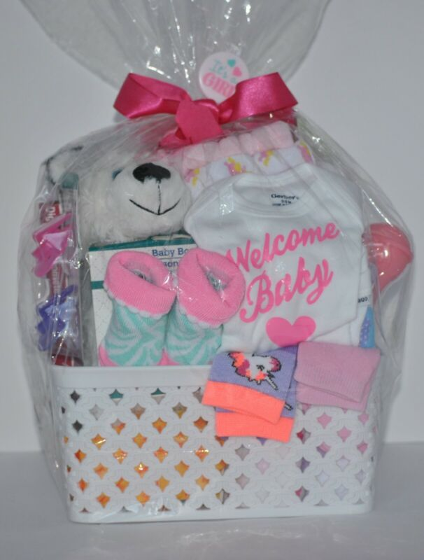 Baby Girl Shower Gift Basket 72 pieces