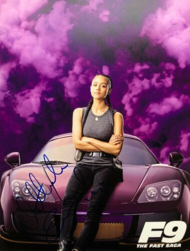 Fast and Furious F9 Saga NATHALIE EMMANUEL SIGNED 8 1/2 X 11 Photo