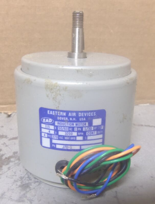 Eastern Air Devices – 1/30 HP Induction Motor – P/N: J70-1 (NOS)