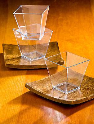 Lot of 60 Small Plastic 2oz COCKTAIL CUPS ~ ~ ~ dessert / sauce / starter holder