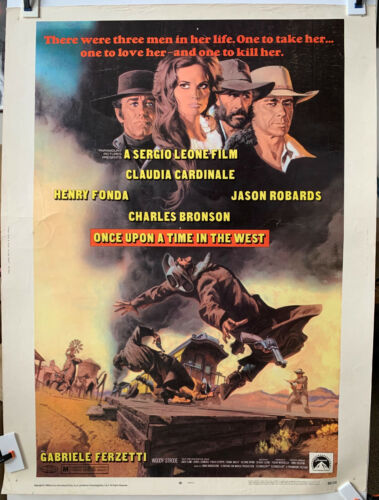 ONCE UPON A TIME IN THE WEST 1968 Rare 30x40 Original movie poster Sergio Leone