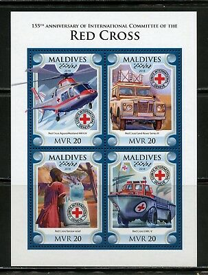 MALDIVES  2018 155th ANNIVERSARY OF THE INT'L COMMITTEE OF THE RED CROSS  SHEET