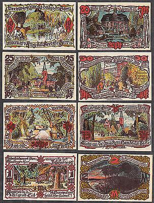 Groß Flottbek -Gemeinde- vollst. Serie, 8 Serienscheine (L 468)