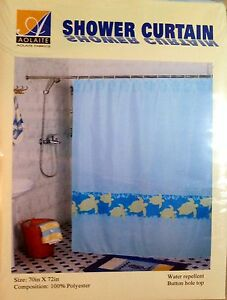 Turtle Shower Curtain Ebay