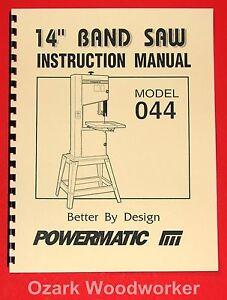 POWERMATIC-Model-044-14-Band-Saw-Instructions-Parts-Manuals-1006