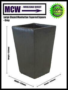 Planters, Pots: Large Glazed Indoor/Outdoor