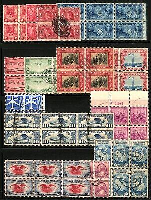 #370-#C51 1909-1958 Assorted Used Blocks of 4-6