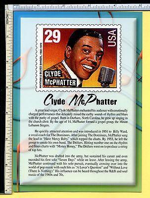 Clyde McPhatter USPS R&B LEGEND Jumbo 5x7 Postcard; post card; 2000; EX/NM